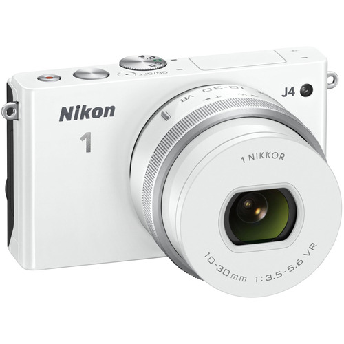 Nikon 1 J4 Mirrorless 18.4MP Digital Camera w/ 10-30mm Lens White Factory Refurbished