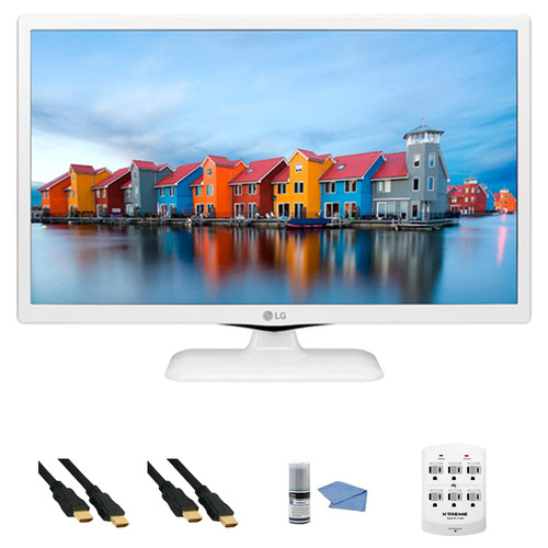 LG 24LF4520-WU - 24-Inch HD 720p 60Hz LED TV (White) + Hookup Kit