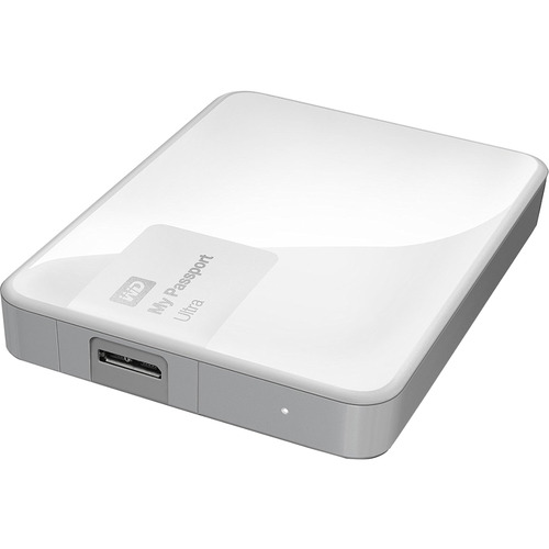 Western Digital My Passport Ultra 3 TB Portable External Hard Drive, White