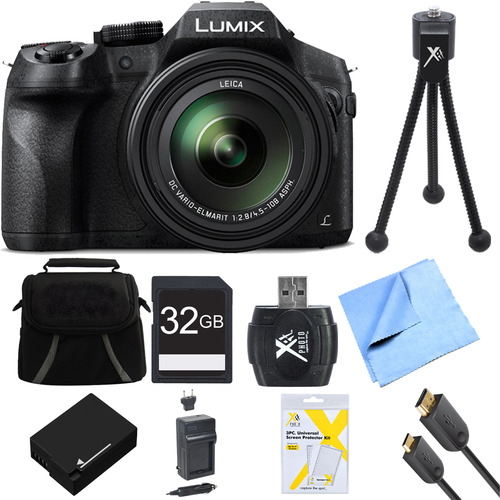 Panasonic DMCFZ300K LUMIX FZ300 4K 24X F2.8 Long Zoom Digital Camera Black Ultimate Bundle